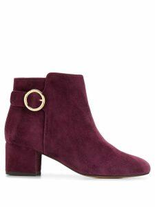 Tila March buckle-detail ankle boots - Purple