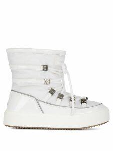 Chiara Ferragni lace-up ankle boots - White
