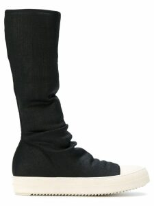 Rick Owens DRKSHDW sock hi-top fitted sneakers - Black