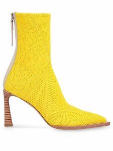 Fendi Tronchetto ankle boots - Yellow
