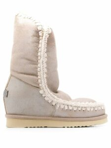 Mou Eskimo Wedge Tall boots - NEUTRALS