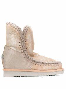 Mou Eskimo metallic boots - NEUTRALS