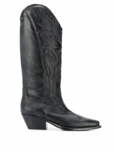 Vic Matie knee cowboy boots - Black