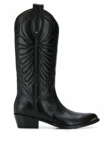Paola D'Arcano knee cowboy boots - Black