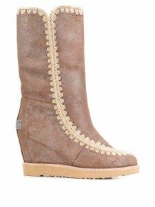 Mou French Toe Eskimo Tall boots - Metallic