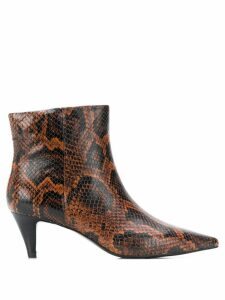 Ash Cameron pointed ankle boots - Brown