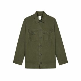 Wood Wood Fabian Olive Cotton Overshirt