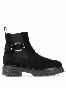 Sergio Rossi side buckle boots - Black