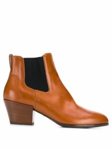 Hogan contrast panel ankle boots - Brown