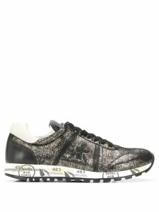 Premiata Lucyd metallic low top sneakers - Black