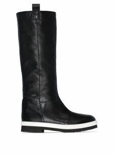 Plan C contrast sole boots - Black