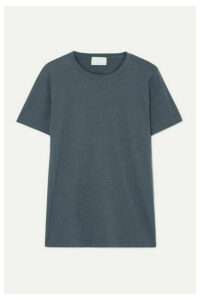 Handvaerk - Pima Cotton And Alpaca-blend Jersey T-shirt - Anthracite