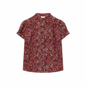 Jigsaw Sprig Floral Button Up Blouse