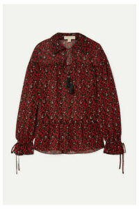 MICHAEL Michael Kors - Printed Georgette Blouse - Red
