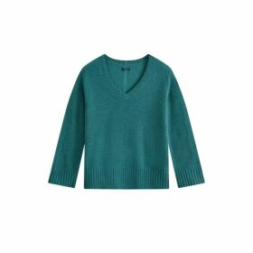 Jigsaw Cloud 7 Cashmere V Jumper