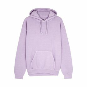 RAGYARD Lilac Embroidered Cotton-blend Sweatshirt