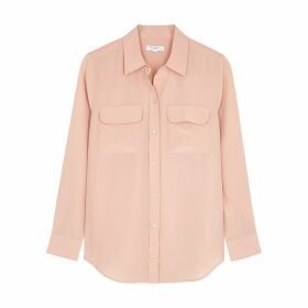 Equipment Slim Signature Blush Silk Shirt