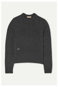 Michael Kors Collection - Embellished Cashmere Sweater - Charcoal