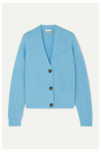 GANNI - Ribbed-knit Cardigan - Blue