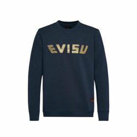 Evisu Sweatshirt With Daicock Foil Print And Carp Velvet Appliqu Embroidery