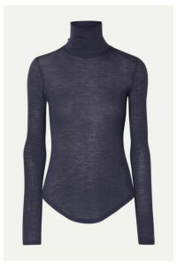 Frances de Lourdes - Lucie Slub Cashmere And Silk-blend Turtleneck Top - Gray