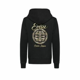 Evisu Hooded Sweatshirt With Scale-patterned Kamon Embroidery