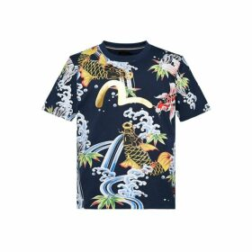 Evisu T-shirt With Allover Carp-patterned Print