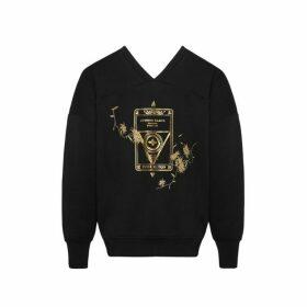 Evisu Two-way Sweatshirt With Kamon And Floral Embroidery