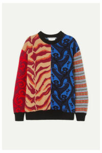 Stella McCartney - Patchwork Wool-jacquard Sweater - Red