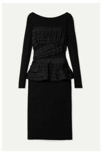 Jason Wu Collection - Ruffled Stretch-jersey Dress - Black