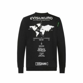 Evisu Map Print Sweatshirt