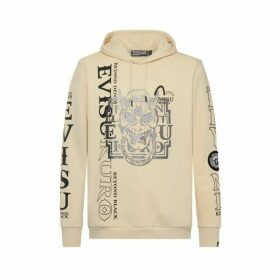 Evisu Glittery Hannya Skull Hoodie With Kamon Badge