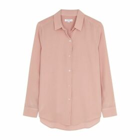 Equipment Essential Pink Silk Shirt
