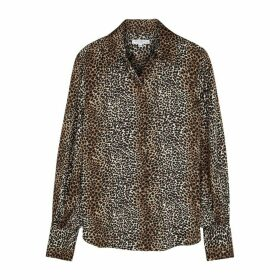 Equipment Didina Cheetah-print Satin Shirt