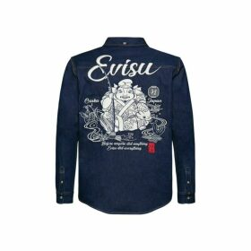 Evisu Denim Shirt With Godhead Embroidery