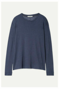 Frances de Lourdes - Marlon Slub Cashmere And Silk-blend Top - Gray