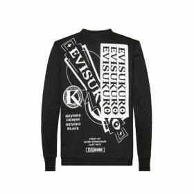Evisu Multi Logo Print Sweatshirt