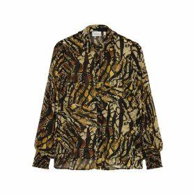 Gestuz Tasnim Python-print Chiffon Shirt