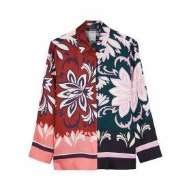 'S Max Mara Franco Floral-print Silk Shirt