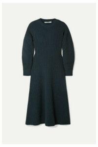 Givenchy - Ribbed Wool-blend Midi Dress - Storm blue