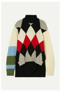 Preen by Thornton Bregazzi - Ingrid Argyle Wool-blend Turtleneck Sweater - Black