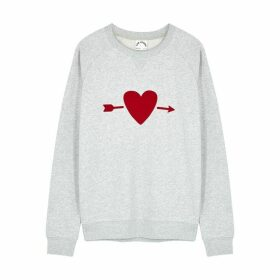 The Upside One Love Grey Cotton-jersey Sweatshirt