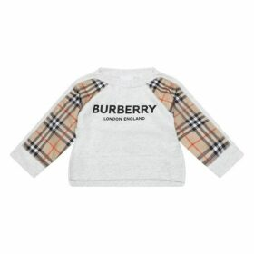 Burberry Check Panel Sweatshirt
