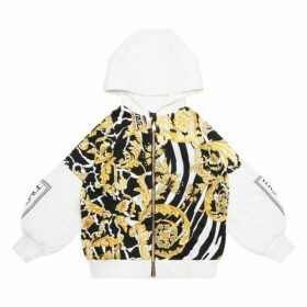 VERSACE Hooded Zip Up Top