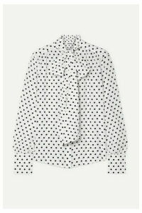 Jason Wu - Pussy-bow Polka-dot Silk Crepe De Chine Blouse - White