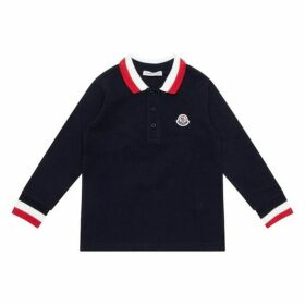Moncler Enfant Long Sleeved Polo