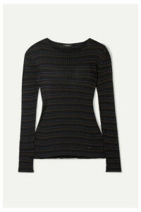 Akris - Striped Mulberry Silk Sweater - Black