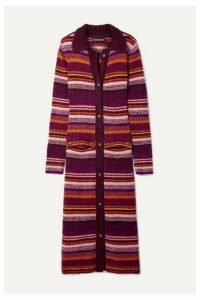 House of Holland - Striped Knitted Cardigan - Burgundy