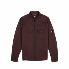 C.P. Company Maroon Cotton Overshirt