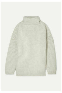 Maison Margiela - Oversized Ribbed Wool-blend Turtleneck Sweater - Beige